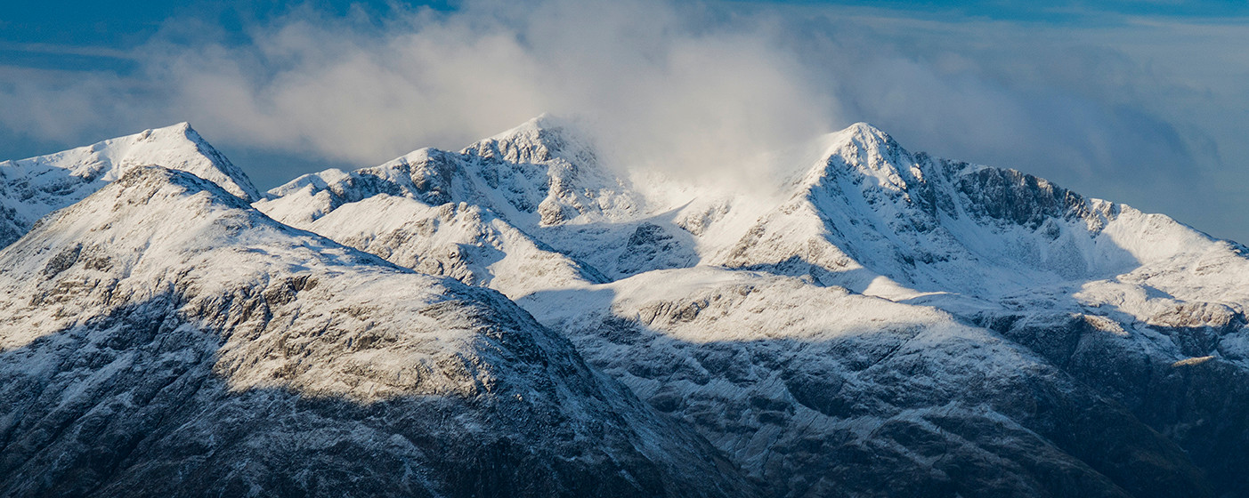 Winter over the Glencoe giant
