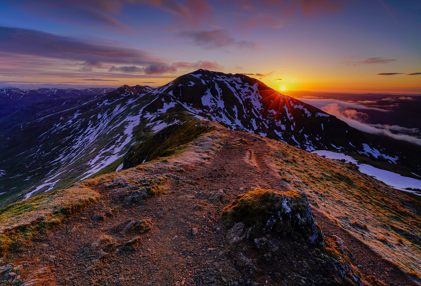 Sunrise over Lawers 1