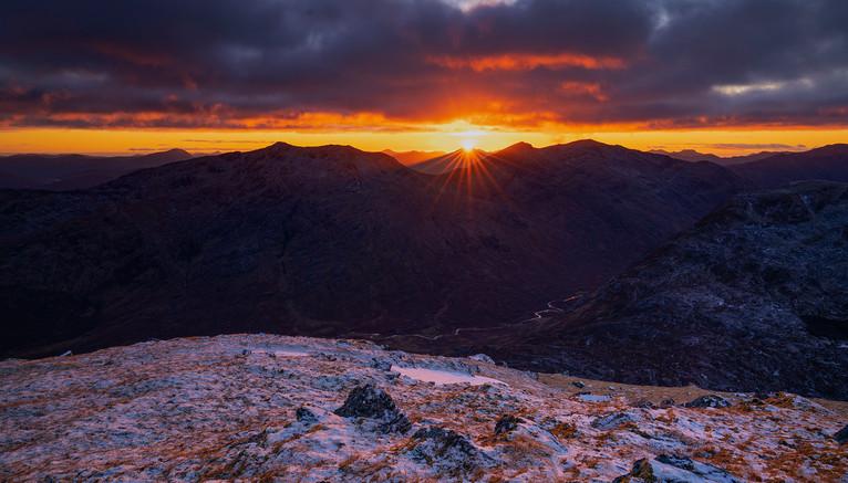 Sunset from Druim Shionnach