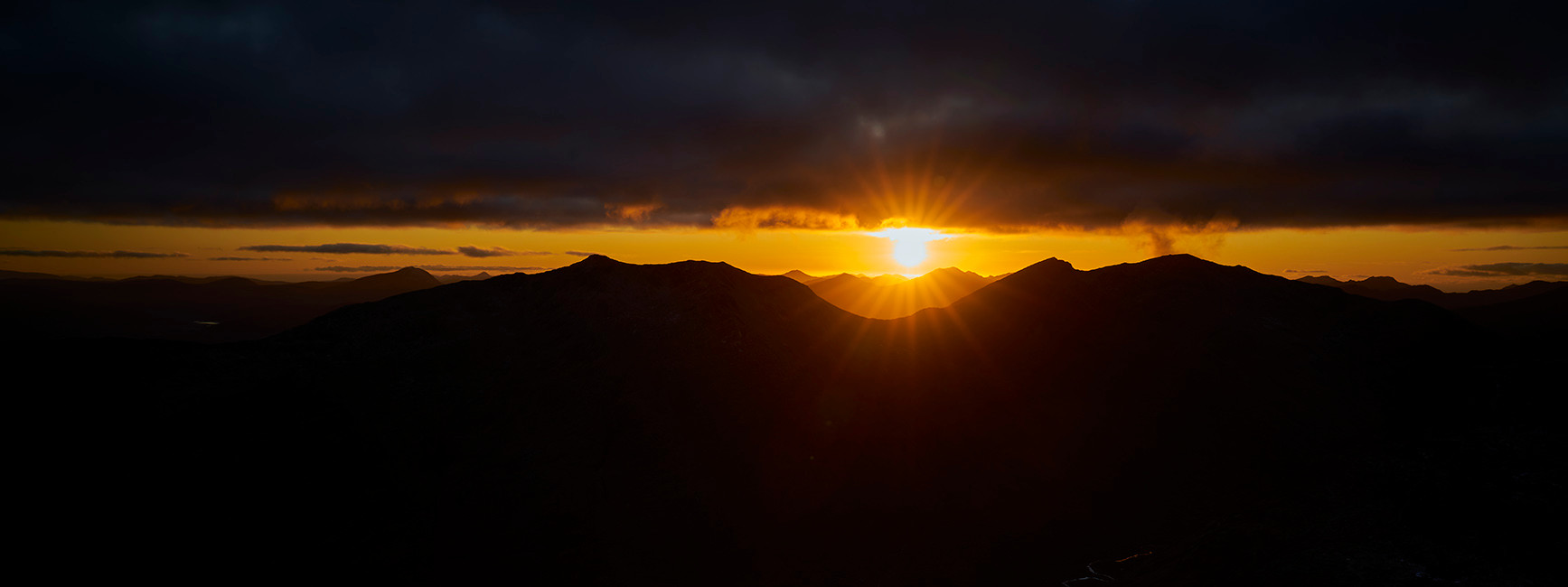 Sunset from the south ridge Glen Shiel
