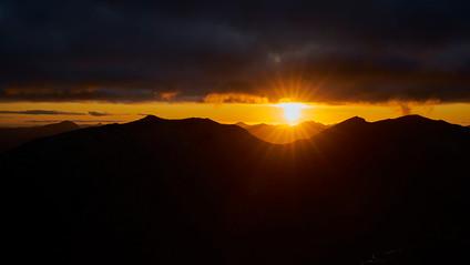 Sunset from the south ridge Glen Shiel