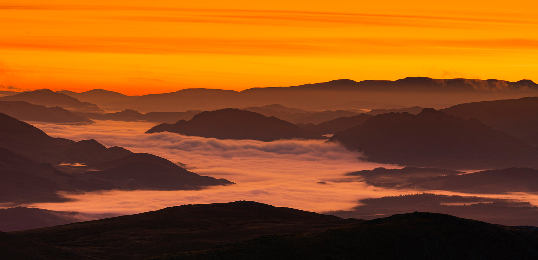 Sunrise from the Grey Corries