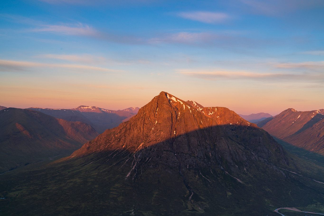 Summer sunrise over Glencoe