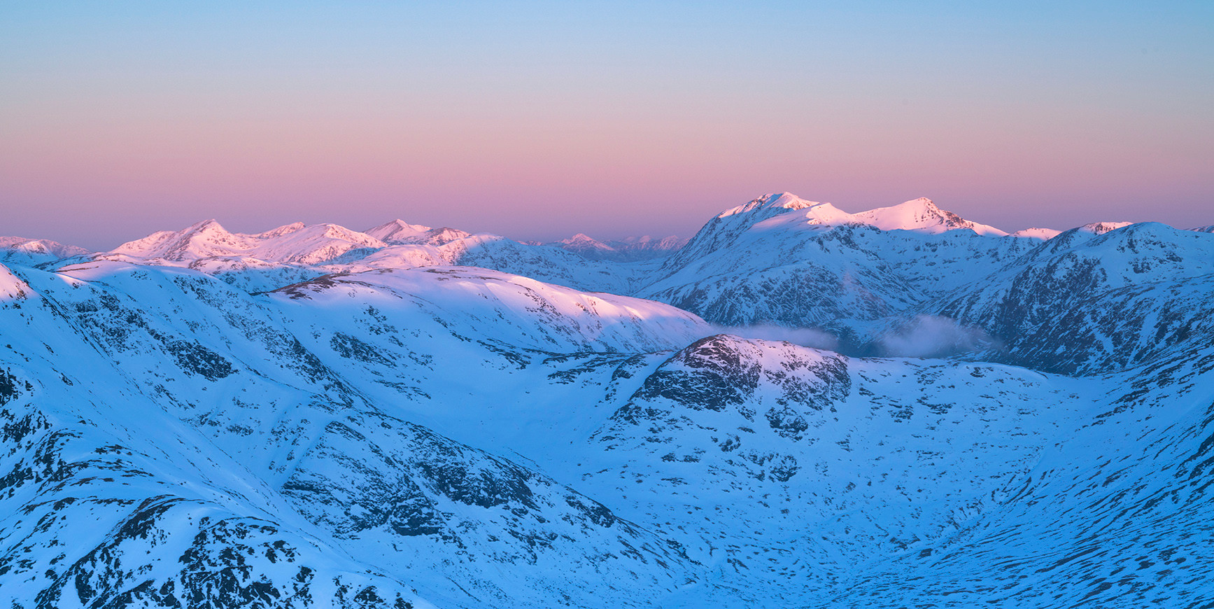 Winter sunrise over Glencoe