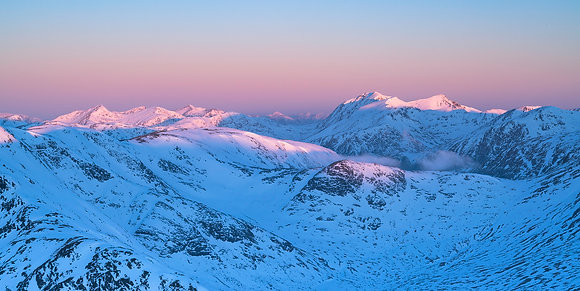 Winter over Glencoe & Glen Etive