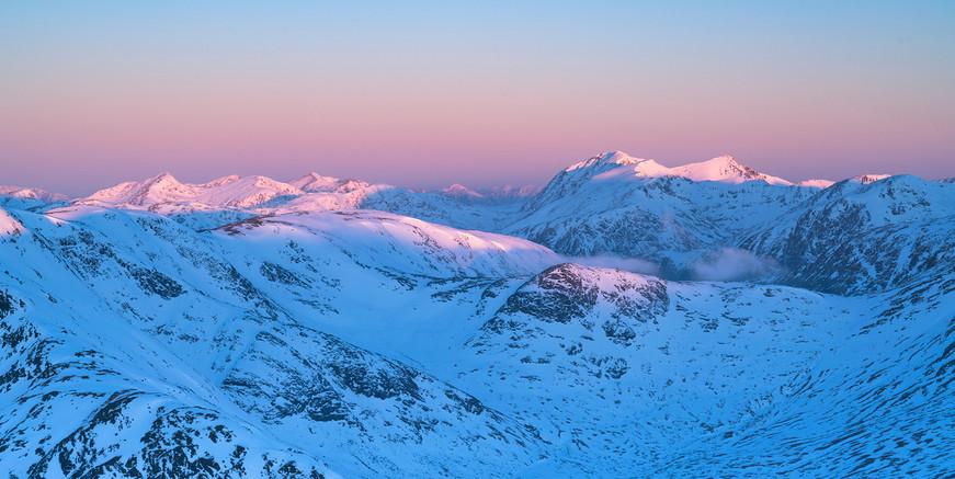 Winter sunrise over Glencoe