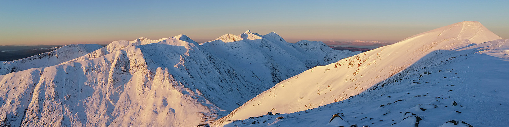Panoramic Cruachan Ridge