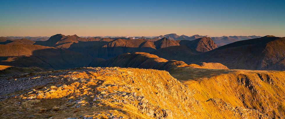 Sunrise over Glen Etivie & Glencoe