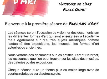 PARLONS D'ART