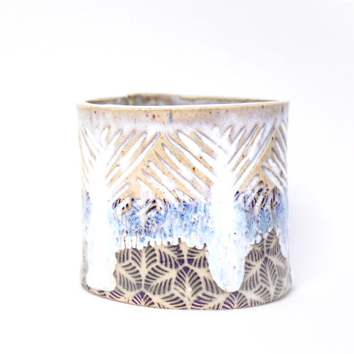 White palm leaves cup