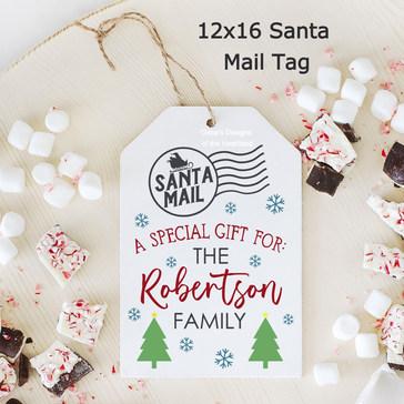 12x16 Santa Mail Tag