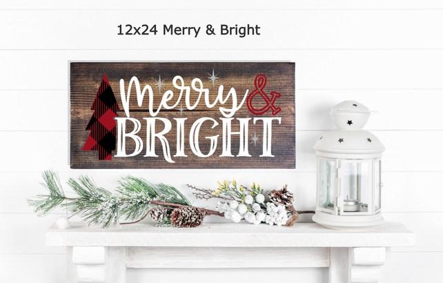 12x24 Merry & Bright