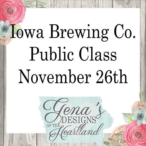Iowa Brewing Company November 26th