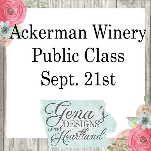 Ackerman Winery Sept 21