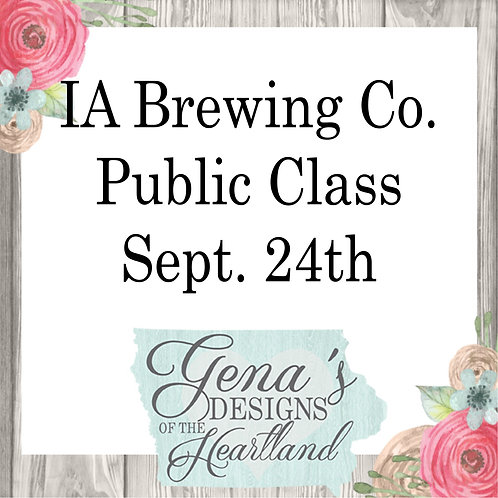 Iowa Brewing Co Sept 24th