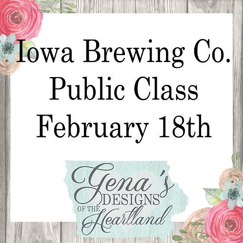 Iowa Brewing Company February 18th