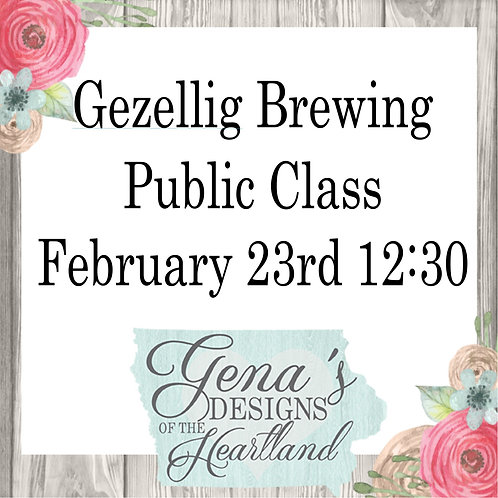 Gezellig Brewing Company February 23rd