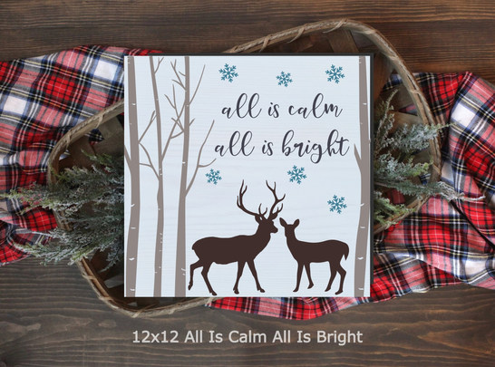 12x12 All Is Calm All Is Bright