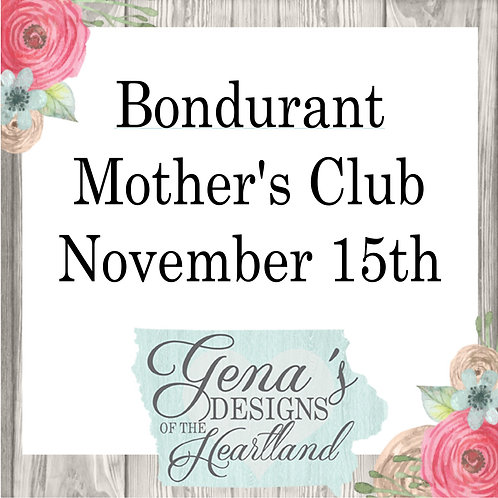Bondurant Mother's Club