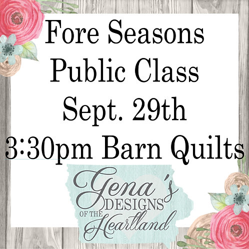 Barn Quilts Fore Seasons