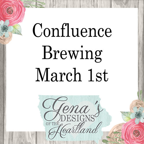 Confluence Brewing Co March 1st