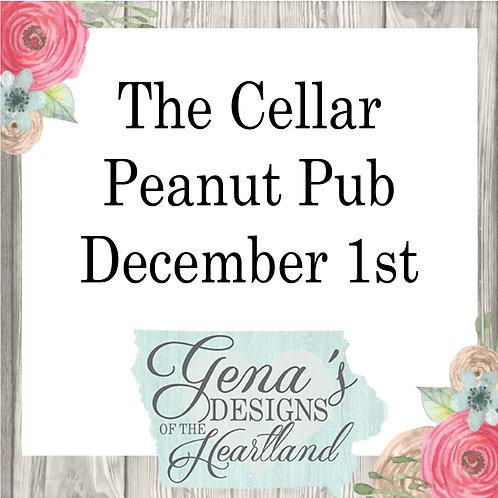 The Cellar Peanut Pub December 1st