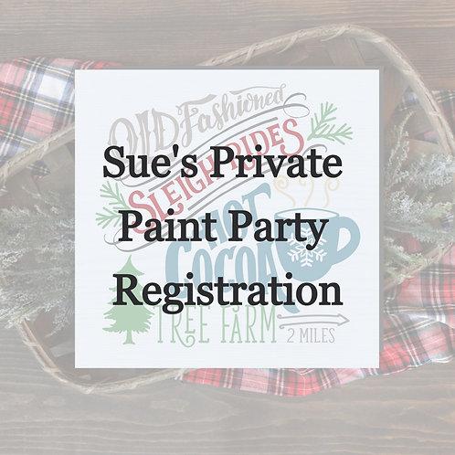 Sue's Paint Party
