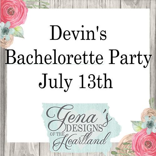 Devin's Bachelorette Party