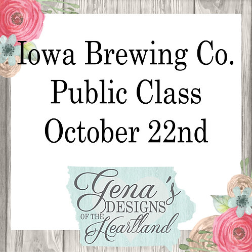 Iowa Brewing Co. Oct 22nd