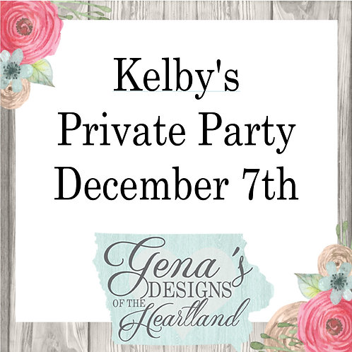 Kelby's Private Party