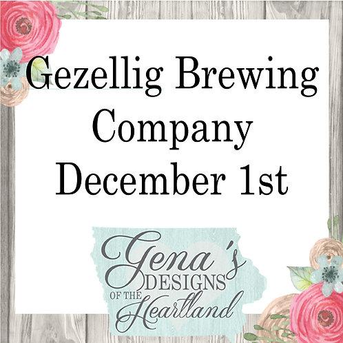 Gezellig Brewing Company December 1st