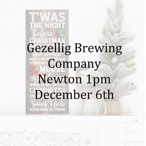 Gezellig Brewing Co Dec 6th