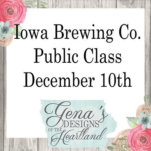 Iowa Brewing Co. December 10th