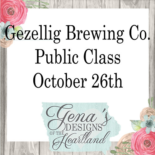 Gezellig Brewing Co. Oct 26th