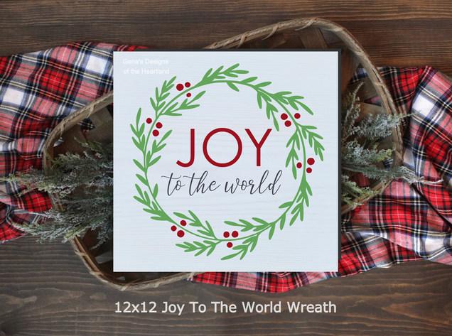 12x12 Joy To The World Wreath