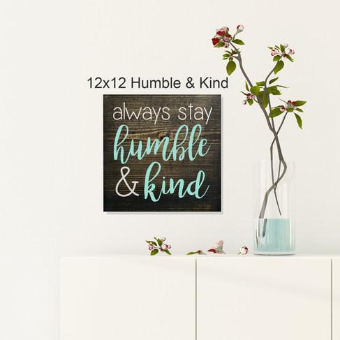 12x12 Humble & Kind