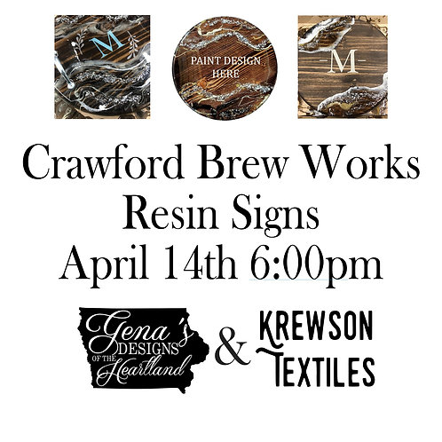 Crawford Brew Works Resin Signs