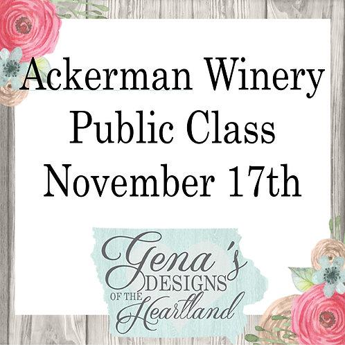 Ackerman Winery November 17th