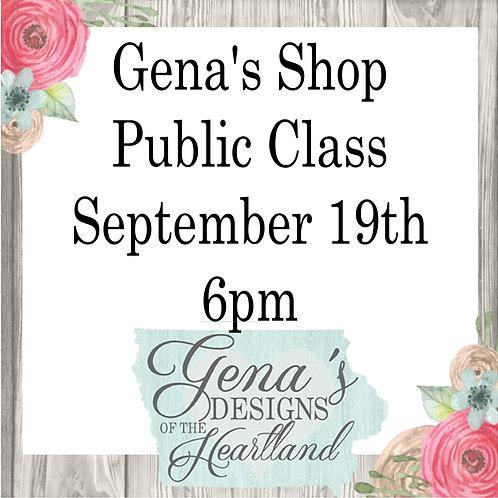 Shop Party Sept 19 6pm