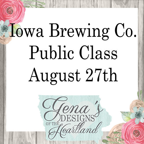 Iowa Brewing Company August 27th