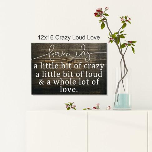 12x16 Crazy Loud Love