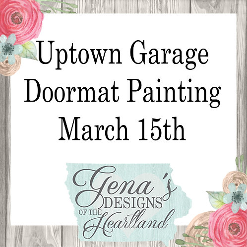 Uptown Garage Brewing Doormats March 15th