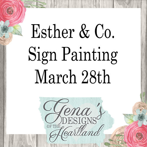 Esther & Co. March 28