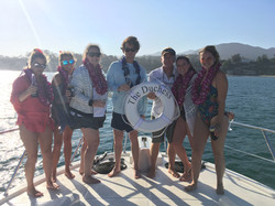 Elise Young and her gang aboard The