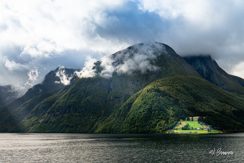 Small Farm Plot along Fjord, Norway