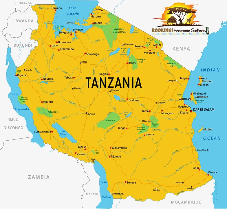 LOCATION Bookings Tanzania Safaris Best prices for Safaris Tanzani