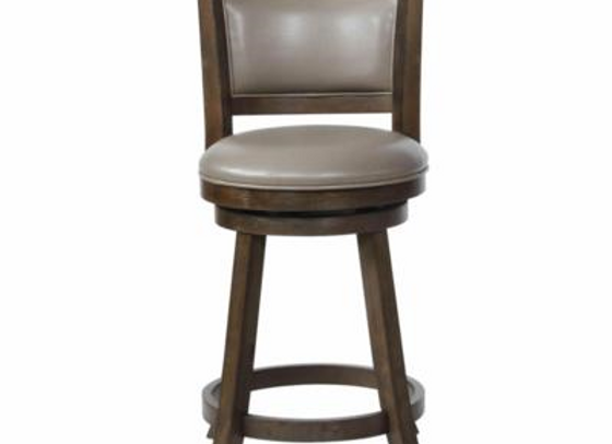 """Cecil Swivel Counter Height Stool 24"""" (Gray)"""
