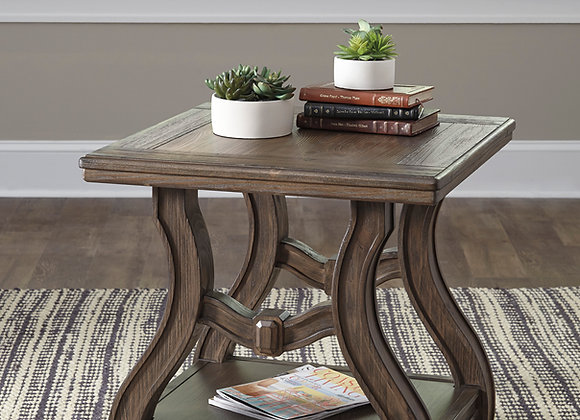 Tanobay Square End Table (Gray)