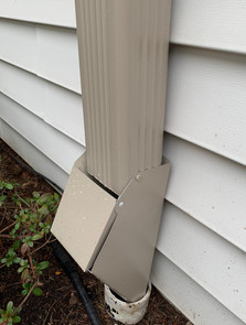 Leaf Trap Closed Installed