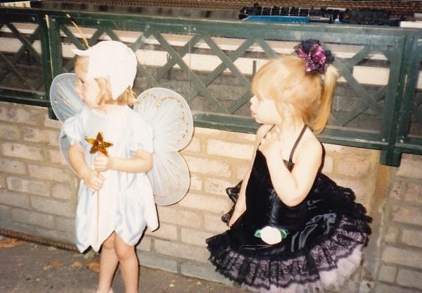 Tatjana and friend on her 3rd birthday
